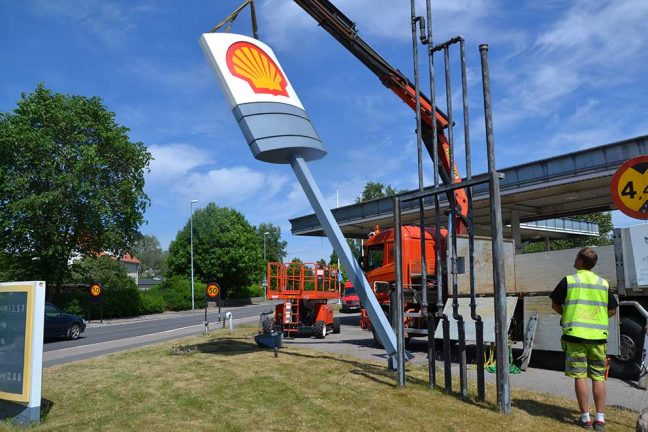 Nu rivs Shell-macken i Vaggeryd