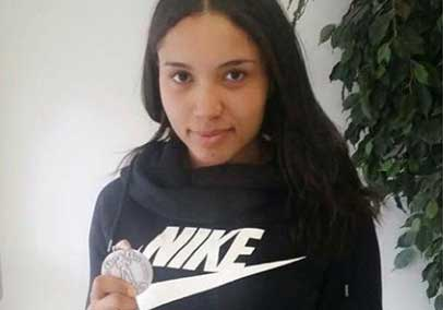Agnes vann silver i Finland
