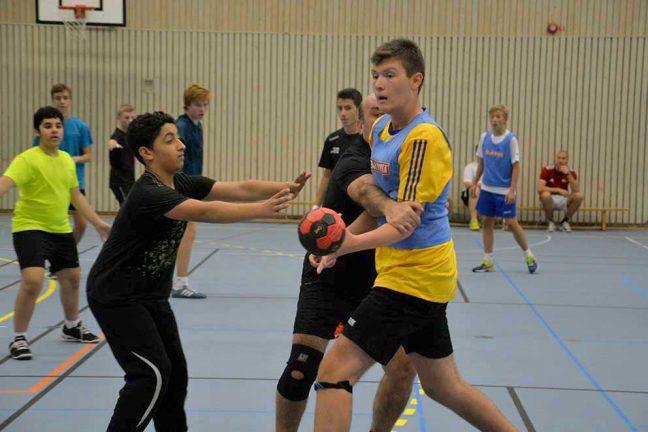 Exproffs tränade handbollskillar i Värnamo