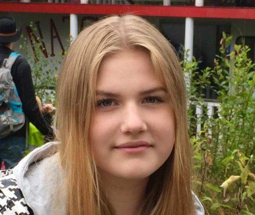 Miranda Eriksson, 16 år