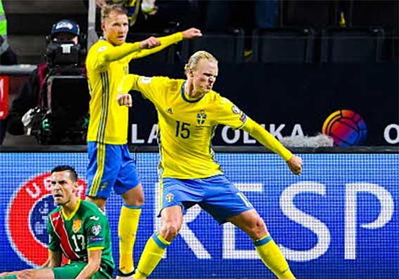 Svensk VM-kvalseger över Bulgarien