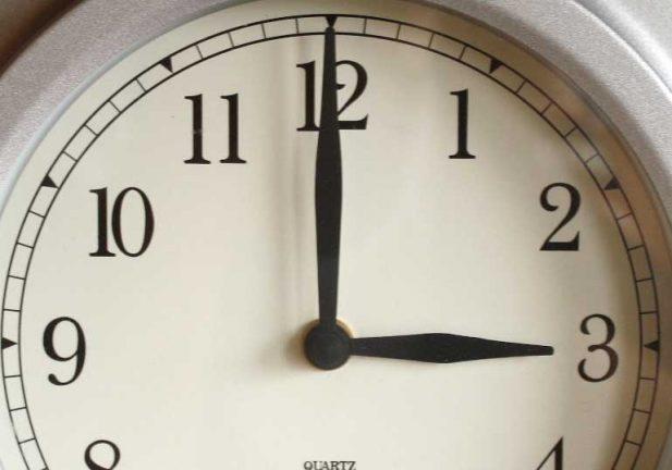 Dags att ställa om klockan