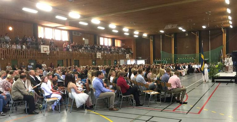 Högtidligt värre vid skolavslutning i Vaggeryd