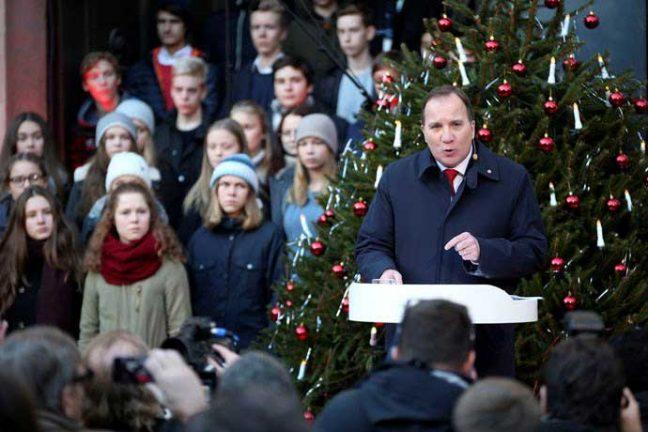 Statsminister Stefan Löfvens jultal