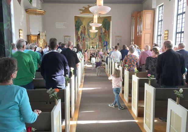 Firar kyrkans 75 år i dag