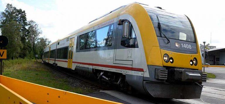 Tågtrafiken stänger måndag kväll