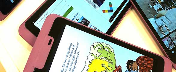 Först med digital läsning