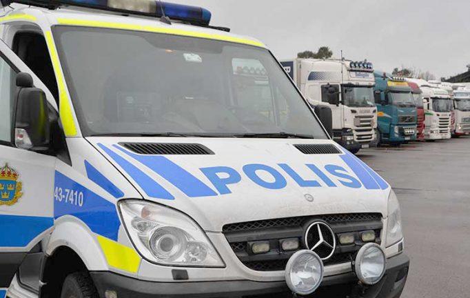 Inbrott i lastbil