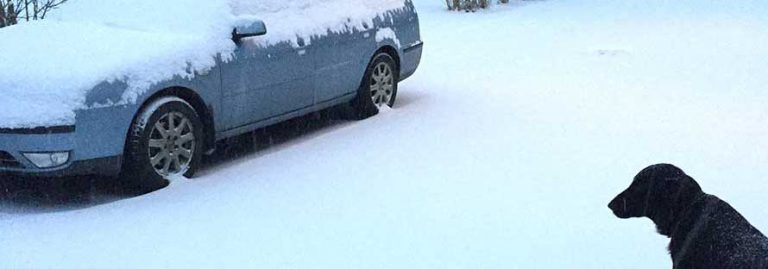 Besvärligt snöoväder på ingång