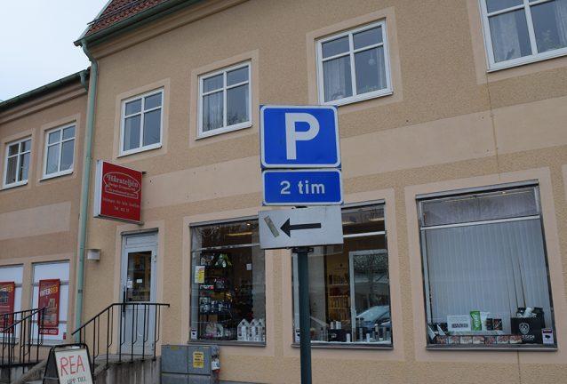 Ingen parkeringsavgift önskas