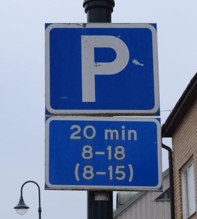 Parkeringstider har inte ändrats