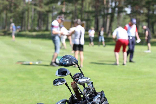 Nedslag på golfens dag
