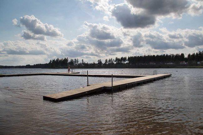 Ingen brygga vid Rolstorpasjön
