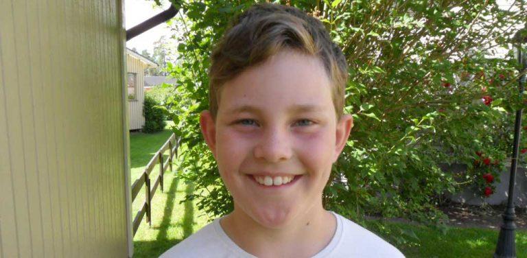 Hugo Wahlström 9 år