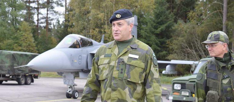 Flygvapenchef på besök i Hagshult