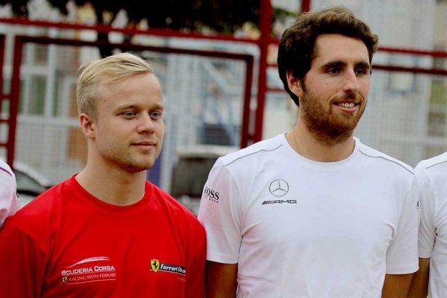 Felix bredvid F1-förare