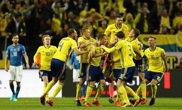 Svensk 1–0-seger mot Italien