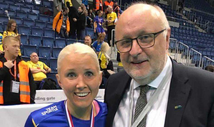 VM-guld med Tomas och tjejerna