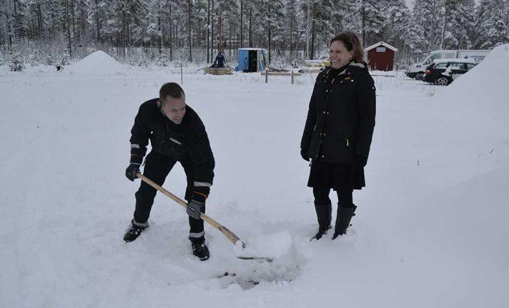 Snöskottning för ny åkerietablering