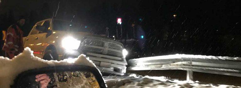 Många olyckor efter snöfall