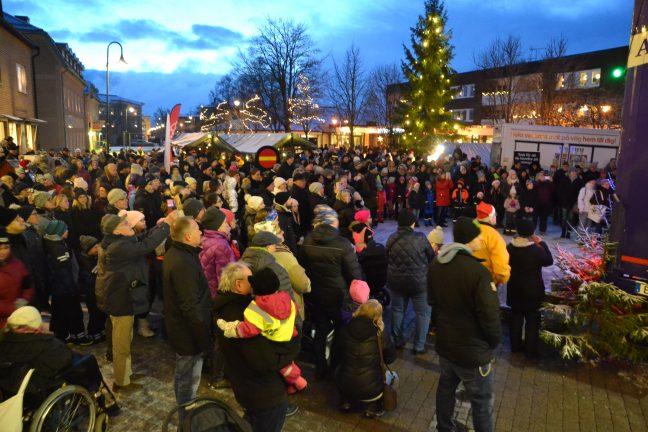 Vintrig och stämningsfull  julmarknad