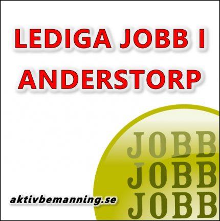 Lediga jobb i Anderstorp
