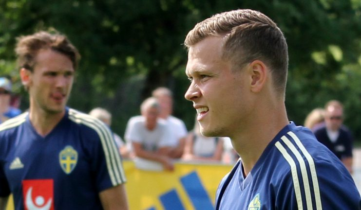 Mål av  Claesson när Sverige EM-vann