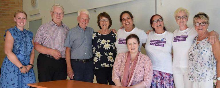 Färgstark politiker besökte Fenix