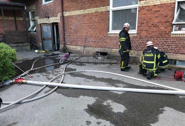 Källarbrand på Stationsgatan – kan vara anlagd