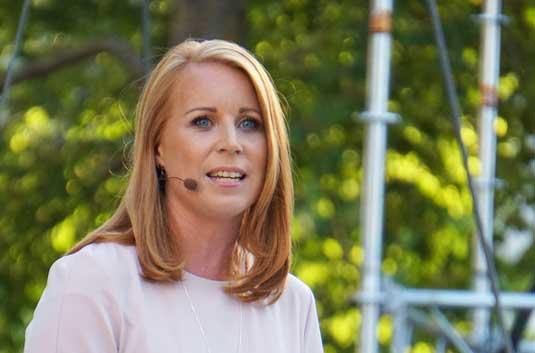 Annie Lööf presenterade plattformen för ny regering