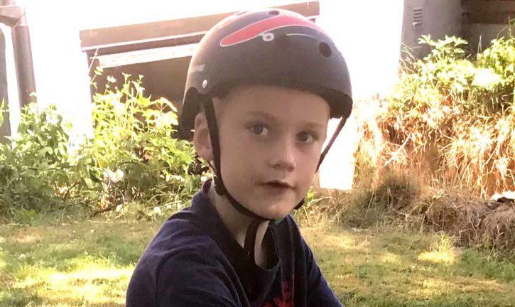 Hannes S Holmstrand 7 år