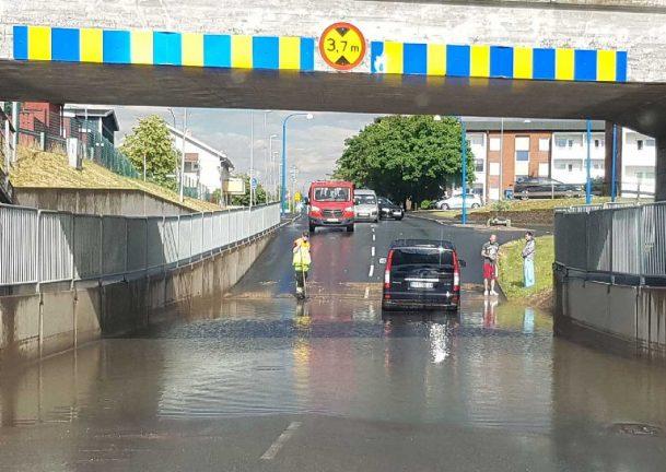 Risk för stora regnmängder