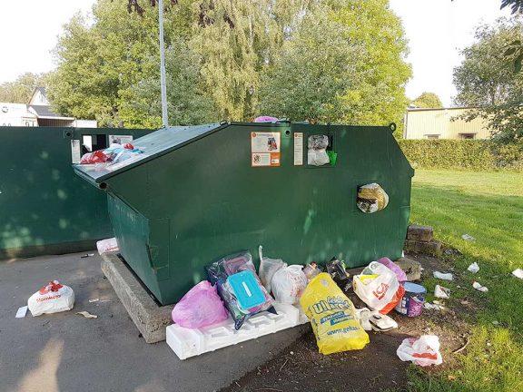 Synpunkter på återvinningsstationen i Hok