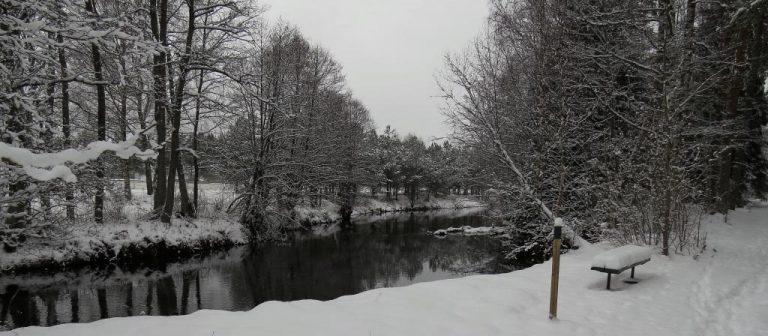 Fågelforsleden i snö