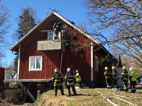 Brand i villa mellan Skillingaryd – Vaggeryd