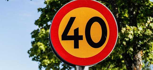 40 blir nya hastigheten