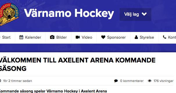 Aplarinken ersätts av Axelent Arena