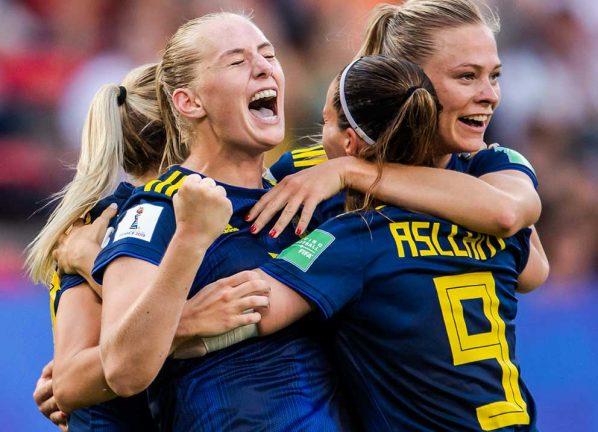 Svenskorna vann kvartsfinalen