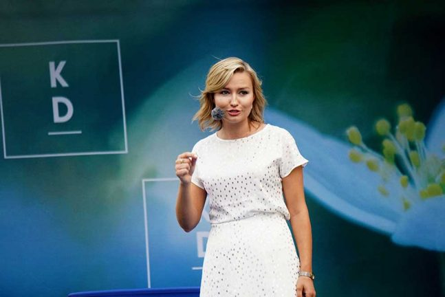 Ebba Busch Thor talade i Almedalen