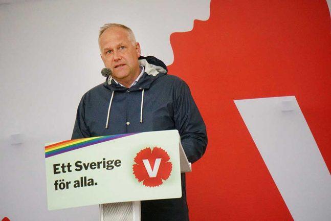 Jonas Sjöstedt talade i Almedalen