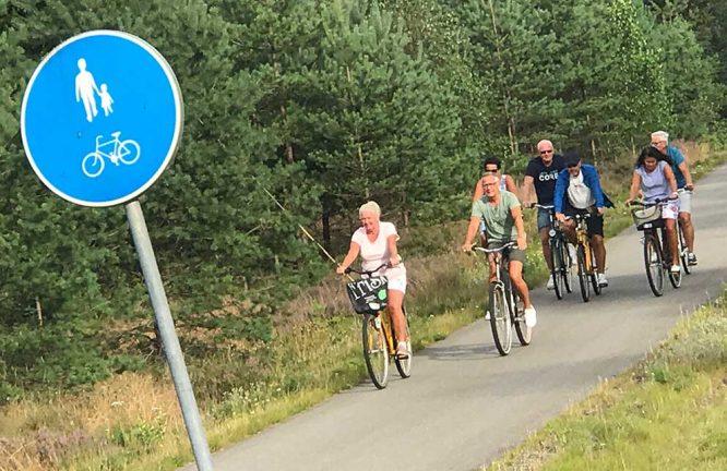 Cyklade lugnt till Bäckalyckan – bildspel