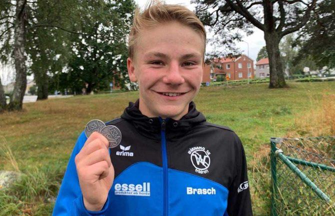 Gustav Brasch tog silver vid Ungdoms-SM