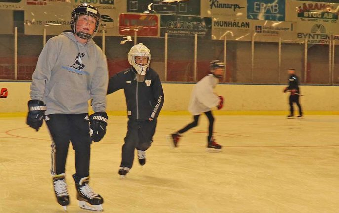 Ishockeyskolan mjukstartade