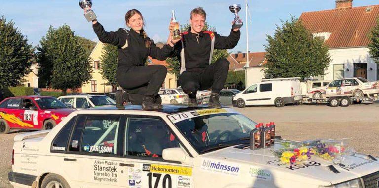 Oscar och Nellie vinner Sydsvenska Rallycupen