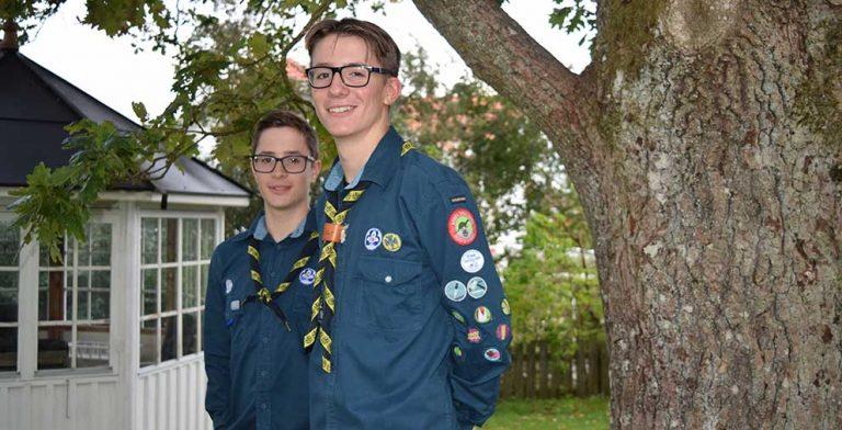 Bröderna Shearman reste på scoutläger i USA