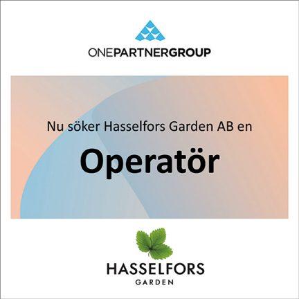 Operatör till Hasselfors Garden