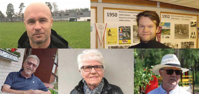 Fem kandidater som Årets Skillingarydsbo 2019 – omröstningen är avslutad