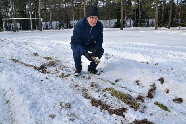 Ny skadegörelse på Bäckalyckans gräsplan