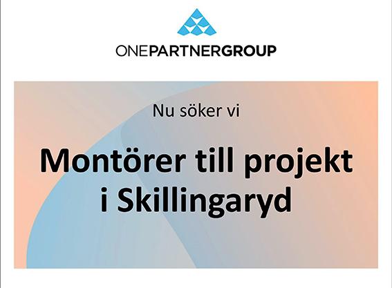 Montörer till Skillingaryd – start omgående!