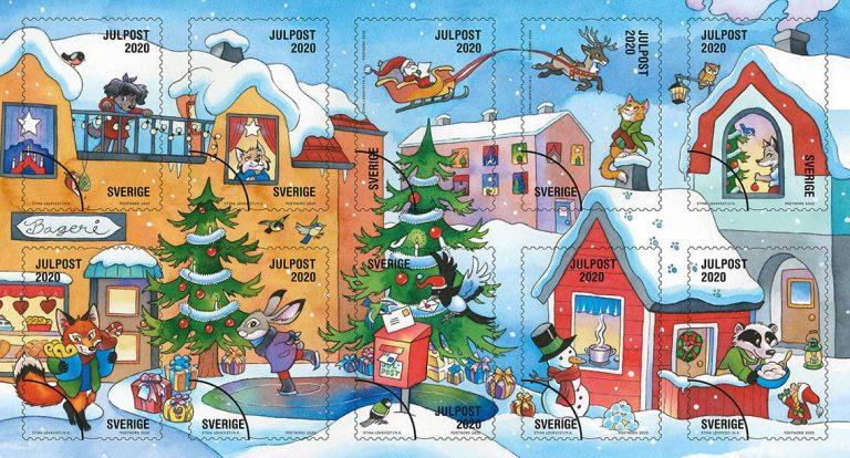 Nu kommer årets julfrimärken